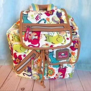 Lily Bloom Riley Mini Backpack Furry Friends HTF